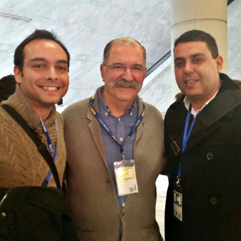 Arhamis junto a Pedro Subijana y Samuel Suárez